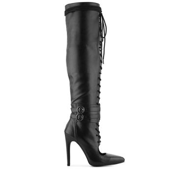 OBSESSION LACE UP KNEE BOOT