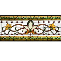 Hanging Stained Glass Window - Fairytale Transom