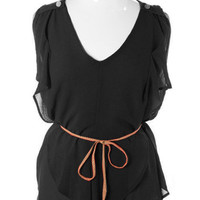 Plus Size Designer Layered Ruffle Breeze Black Tank, Club Wear, Dresses, Tops, Sexy Trendy Plus Size Women Clothes