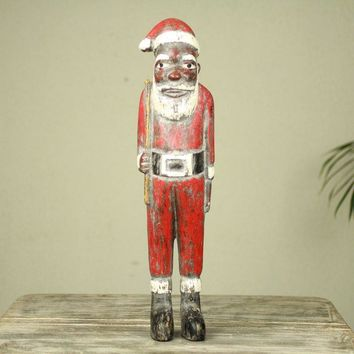 African Unique Santa Claus Christmas Figurine