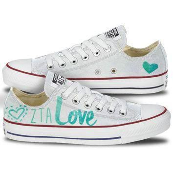 DCKL9 Zeta Tau Alpha Love Converse Low Top