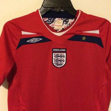 Sale!! Euc Umbro England 2008/2010 Soccer Jersey Official Football Shirt size Youth La