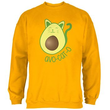Cinco De Mayo Avocado Cat Mens Sweatshirt