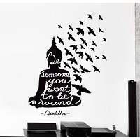 Vinyl Wall Decal Buddha Buddhist Quote Be Someone You Want To Be Decor Unique Gift z4496