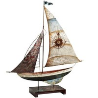 Capiz & Metal Sailboat