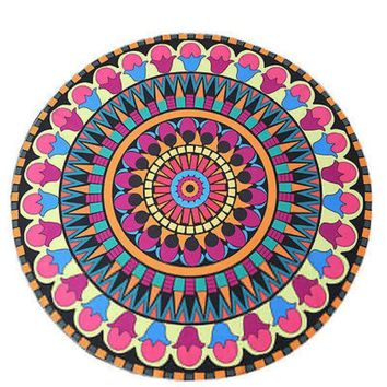 LMF9GW 145cm Hippie Round Mandala Tapestry Indian Wall Decorative Mandala Tapestry wall Carpet 16734-6