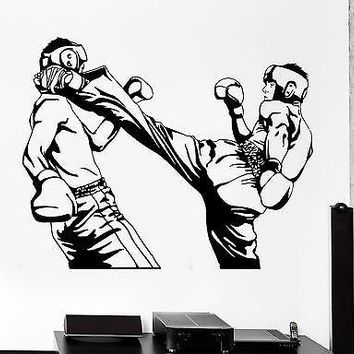 Wall Sticker Sport Taekwondo Karate Kick Boxing Fighters Vinyl Decal Unique Gift (z3021)