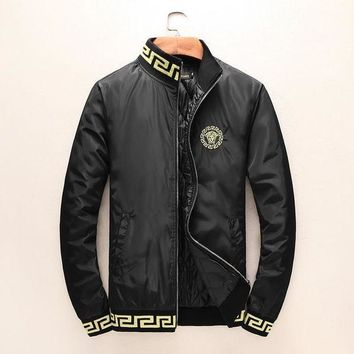 ESB3HD Versace Women or Men Fashion Casual Embroidery Cardigan Jacket Coat