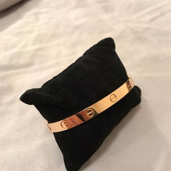 Cartier Love Bracelet Rose Gold Size 18