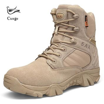 Men Army Military Tactical Boots Shoes Outdoor Hiking Climbing Shoes Boots Professional Breathable Desert Combat Boots
