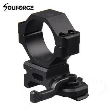 30mm Ring Scope QD Quick Release Mount Lever Lock Tactical High Profile 20mm Rail Weaver Picatinny Mounts Hunting Accessories