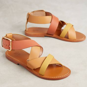 Sanchita Chamae Tri-Color Sandals