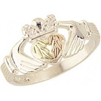 Beautiful! Sterling-silver Black Hills Gold Women's Claddagh Ring