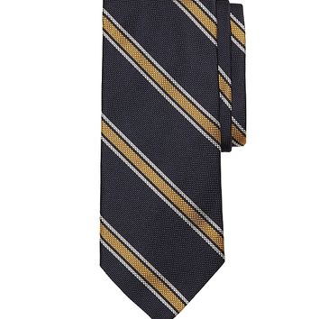 Oxford Split Stripe Tie - Brooks Brothers