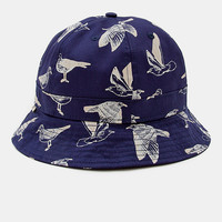Obey Gulls Bucket Hat - Navy at Urban Industry