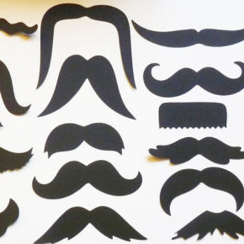 mustaches moustache stache (20) pieces movember cupcake toppers mustache straws photo booth props decorating invitations