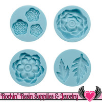 Cheerful Flower Martha Stewart SILICONE MOLD Flowers and Leaves