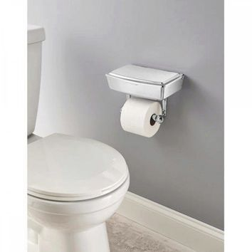 Delta Porter Chrome Toilet Paper Holder With Storage Box OT403