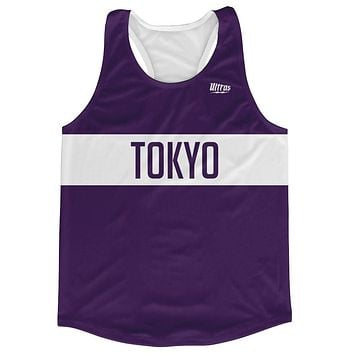 Tokyo City Finish Line Running Tank Top Racerback Track and Cross Country Singlet Jersey