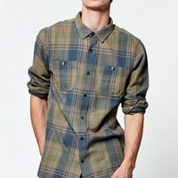 Modern Amusement Rascal Long Sleeve Flannel Button Up Shirt - Mens Shirt - Green