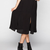 Full Tilt Midi Skirt Black  In Sizes