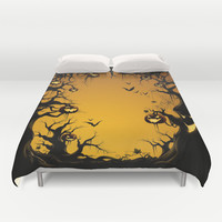 SCARY HALLOWEEN Duvet Cover by Acus