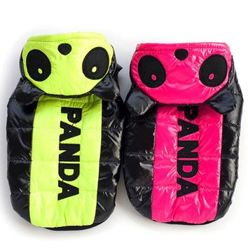 Pet Puppy Dog Cat Panda Design Clothes Hoodie Jacket Winter Down Coat