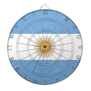 Dartboard with Flag of Argentina