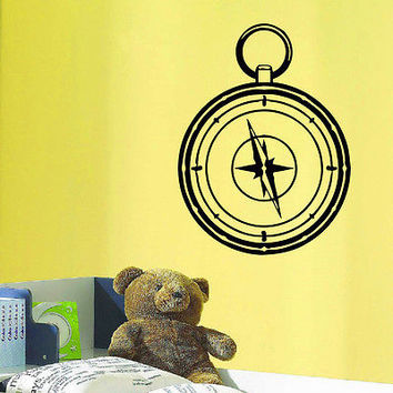 WALL DECAL VINYL STICKER WIND ROSE COMPASS TRAVEL GEOGRAPHY DECOR SB416