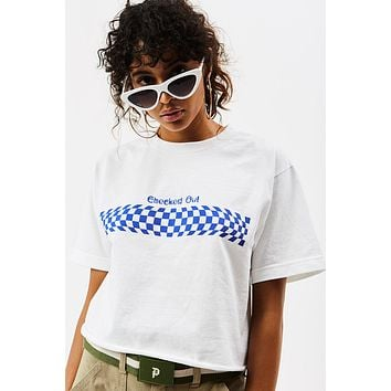 Checked Out Cropped Tee ☺