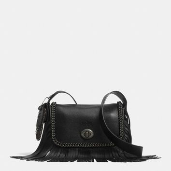 DAKOTAH SMALL FRINGE FLAP CROSSBODY IN WHIPLASH LEATHER