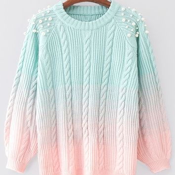 Pearls Beaded Gradient Jumper