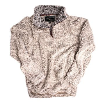 <b>PRE-ORDER</b> Frosty Tipped Pile 1/2 Zip Pullover in Putty by True Grit