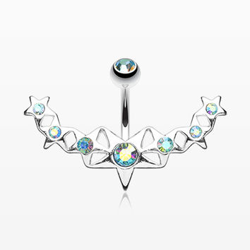 Glister Stars Arc Belly Ring