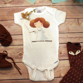 Princess Leia Onesuit®, Star Wars Baby Clothes, Daddy's Little Princess Onesuit, Baby Shower Gift, Funny Onesuits, Baby Girl Clothes, Cute
