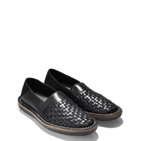 Lewis Woven Loafer in Black