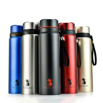 700/800/1000ml Business Vacuum Flask Stainless Steel Tumbler Portable Insulated Cup Thermos Bottle Coffee Travel Mug