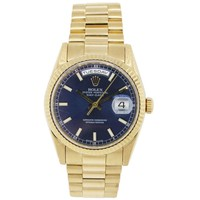 Rolex 118238 Presidential Day Date Gold Blue Dial Watch