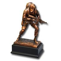"Copper-Plated ""Marine"" Statue"