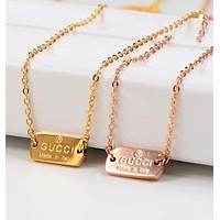 GUCCI New Trending Women Men Personality Necklace Simple Collarbone Chain Accessories Jewelry I-HLYS-SP