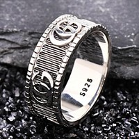 GUCCI New fashion letter personality couple ring