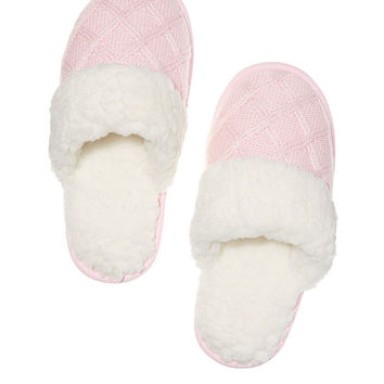 The Embroidered Cozy Slipper - Victoria's Secret
