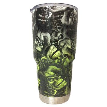Green Transition Skull Tumbler Warehouse Tumbler