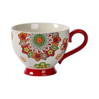 Tabletops Unlimited® Gallery Robin Footed Mug in Red