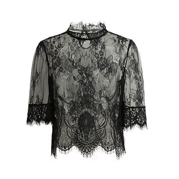 Embroidery Lace Tops