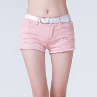 Denim Summer Candy Color Jeans Shorts