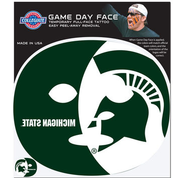 Michigan St. Spartans Game Face Temporary Tattoo CGFD41