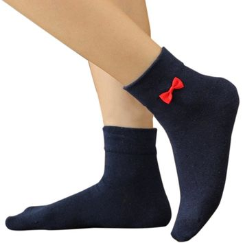 Streetstyle  Casual Cotton Bowknot Casual Sock