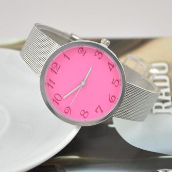 Great Deal Awesome Designer's Gift Stylish Good Price Trendy New Arrival Alloy Silver Ladies Couple Watch [8863747911]