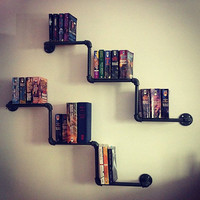Custom Order for K Pipe Bookshelves (2)